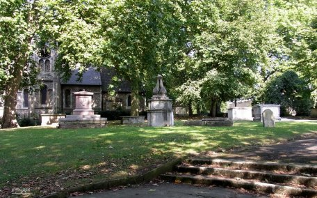 st pancras old churchyard with tomb