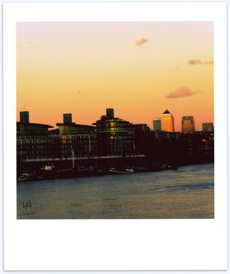 canary wharf sunset + In my sky at twilight poem