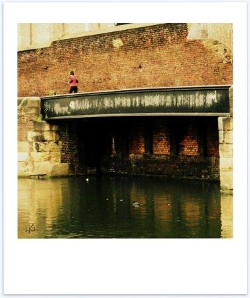 canal runner -polaroid poem