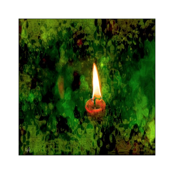 photoart - candle for shoah