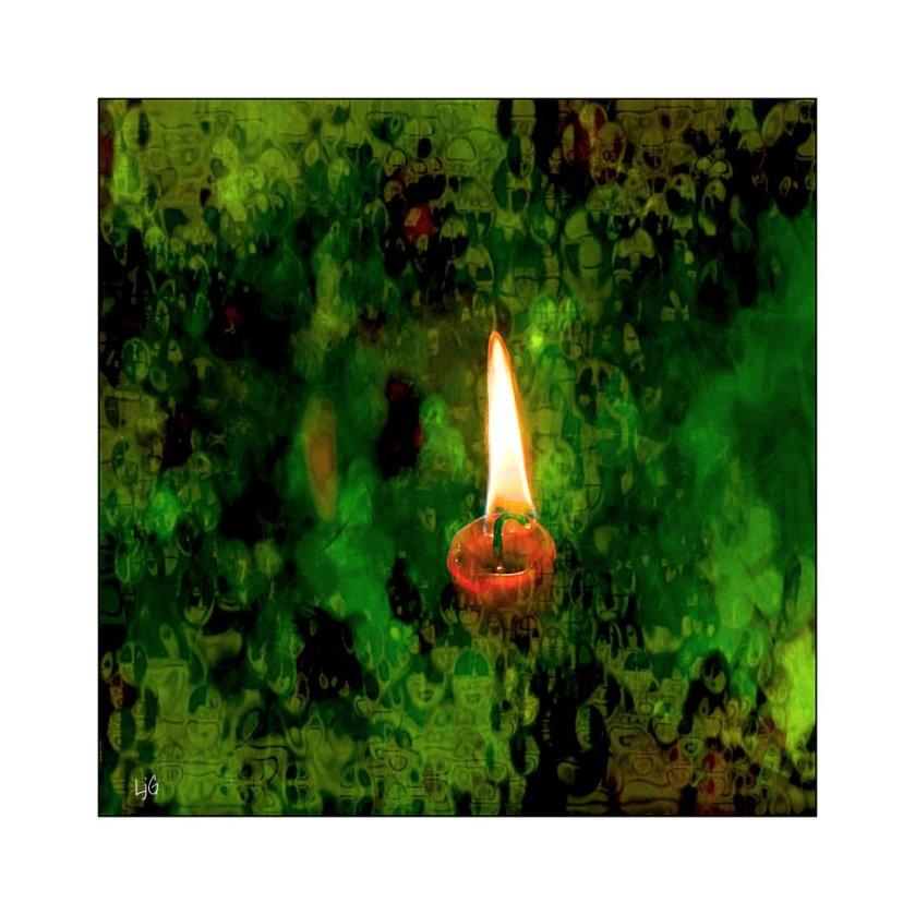 photoart - candle for shoah