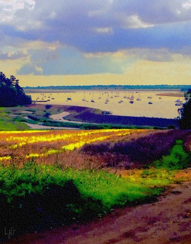 sailing poem - photoart sailboats on the deben