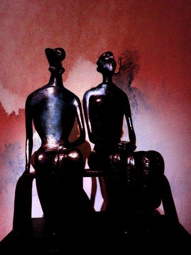moore's king and queen bronze - photoart & love sound poem