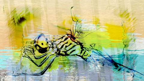 photoart & poem - dragonfly
