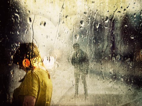 photoart & poem - rain and romance