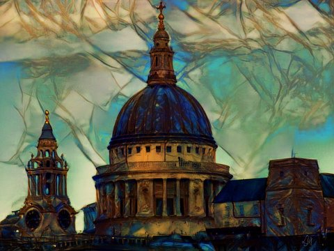 church of St Paul's photoart & poem - the crux