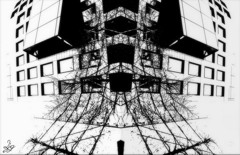 Photoart & poem - keeping a distance
