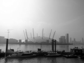 the O2 arena, Greenwich peninsula